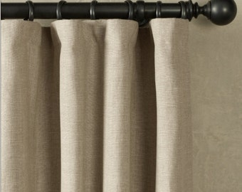 Custom-Curtains-Drapery-Panels-Window-Treatments - Embroidered Linen