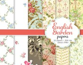 English Garden digital paper set