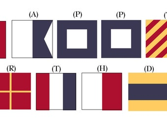 Printable Nautical Signal Flag Banner Letters