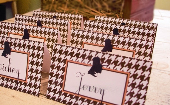 Instant Download Thanksgiving Houndstooth Place Cards