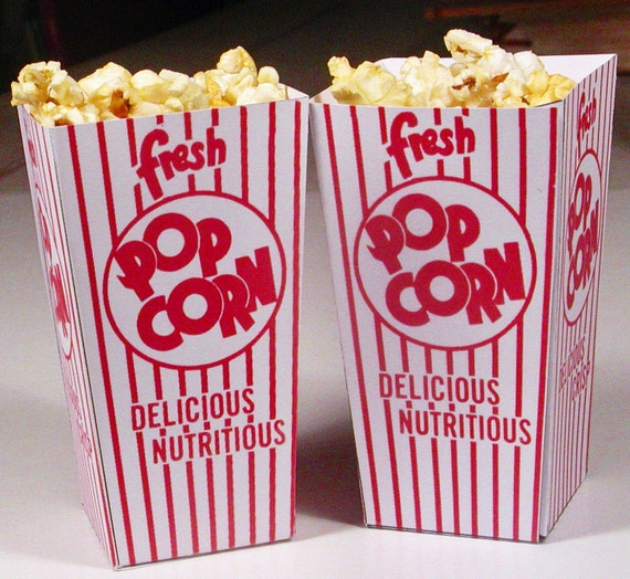 Instant Download Printable Popcorn Favor Box