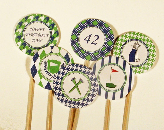 Printable Golf Party Cupcake Toppers
