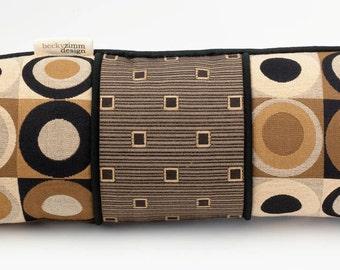 Decorative Throw Pillow- Bolster pillow- Mod Circle design- by beckyzimmdesign