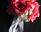 Pink Roses & White Orchids Bridal Bouquet