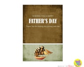 Father's Day Greeting Card Design - Party Invitation Design - Printable - Digital file - Wife to Husband - Sharing the Journey