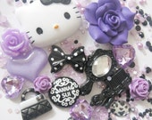 Purple Hello Kitty Deco Den Kit DIY 4 iPhone - Craft for Phone Cases Apple 4G 3G XJ08