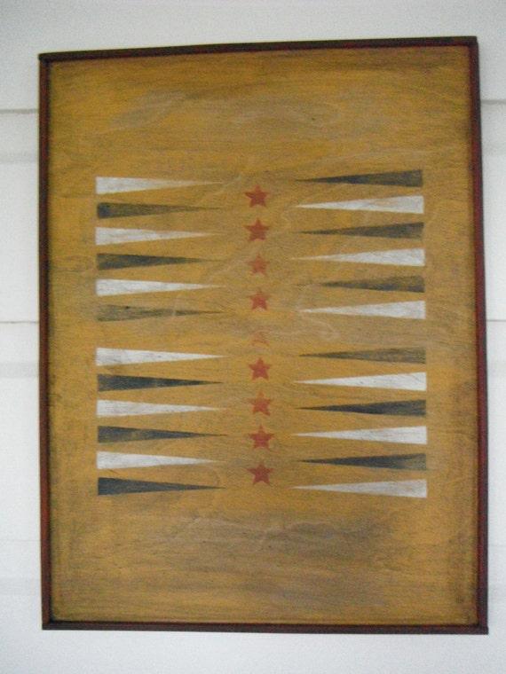 Vintage backgammon game board for home decor