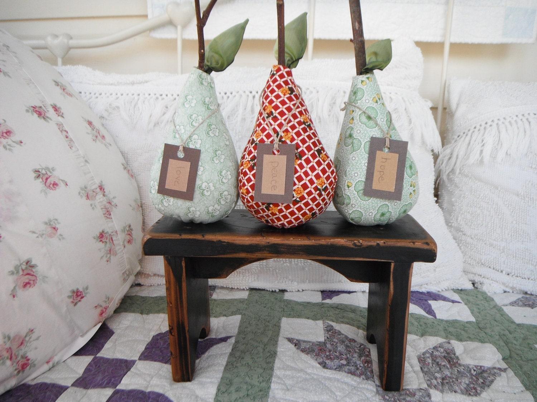 Items Similar To Home Decor Folk Art Bench, Primitive