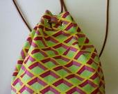 MANUEL CANOVAS designer cotton backpack purse
