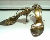 DOLCE & GABBANA designer strappy heels size 38