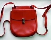 RESERVED FURLA designer red slim backpack