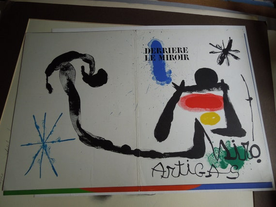 Derriere le miroir 1956 miro lithograph 11 x14 by for Miro derriere le miroir