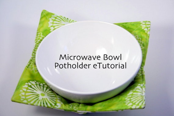 Kitchen Quilted Microwave Bowl Potholder eTutorial