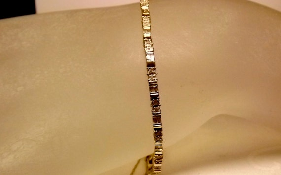 Reserved for Glenys/Vintage 10K Yellow Gold Diamond Bracelet. .70 Carats