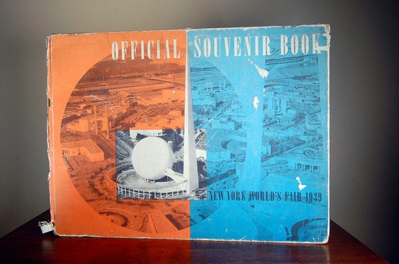 SALE 50% OFF Antique 1939 New York Worlds Fair Official Souvenir Book First Edition