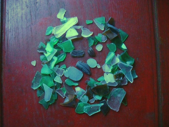 Sea glass lot of 140 pieces mosaic arts and crafts by for Mosaic pieces for crafts