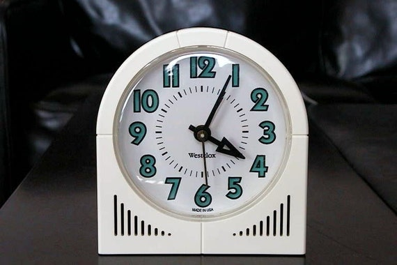 WESTCLOX Electric Alarm Clock - Vintage Art Deco Style - Made in USA