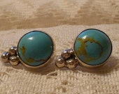 Vintage Sterling Silver Turquoise Earrings