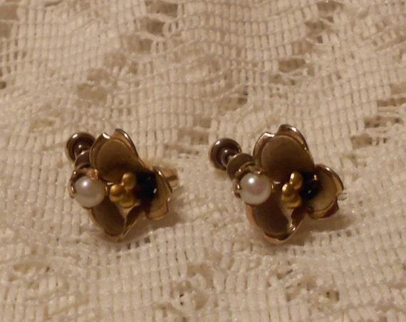 Vintage Flower Petal Earrings by Loran Sim