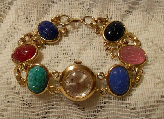 Vintage Lady Nelson Scarab Ladies Watch