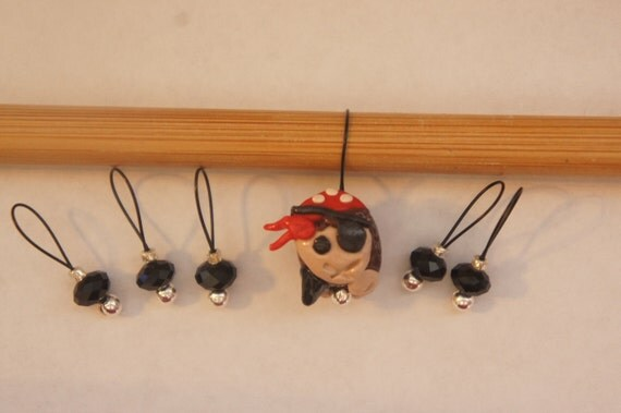 First Mate Sheeply and jewels, Set of 6 stitch markers