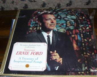 "Mid-Century Original 6 Album Set ""Tennessee Ernie Ford"" Longines Symphonette Vinyl Records Gospel Songs Unopened"