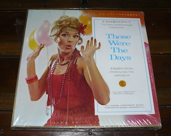 """Vintage Original Set Unopened Six Records """"Those Were The Days"""" A Dazzling Flapper Era Music by Longines Symphonette Society Vinyl Records"""