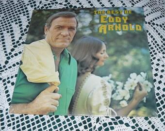 "Vintage Original Unopened ""Eddie Arnold Country Music"" 1976 MGM Record Album 33 RPM 12"" Vinyl"