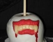 Gothic Vampire Goth Dracula Fangs Caramel Carmel Apple Halloween