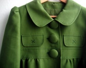 Awesome green jacket with peter pan collar.