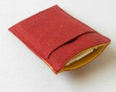 Small Smartphone Case for iPhone, LTC in Red Irish Tweed