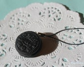 Mini Oreo Cookie Handmade Phone Charm Keychain, Polymer Clay