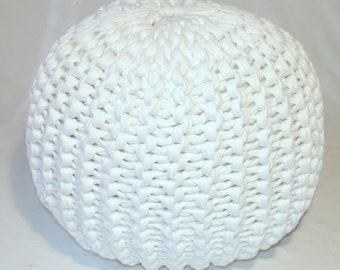 knitted pouf pattern pdf