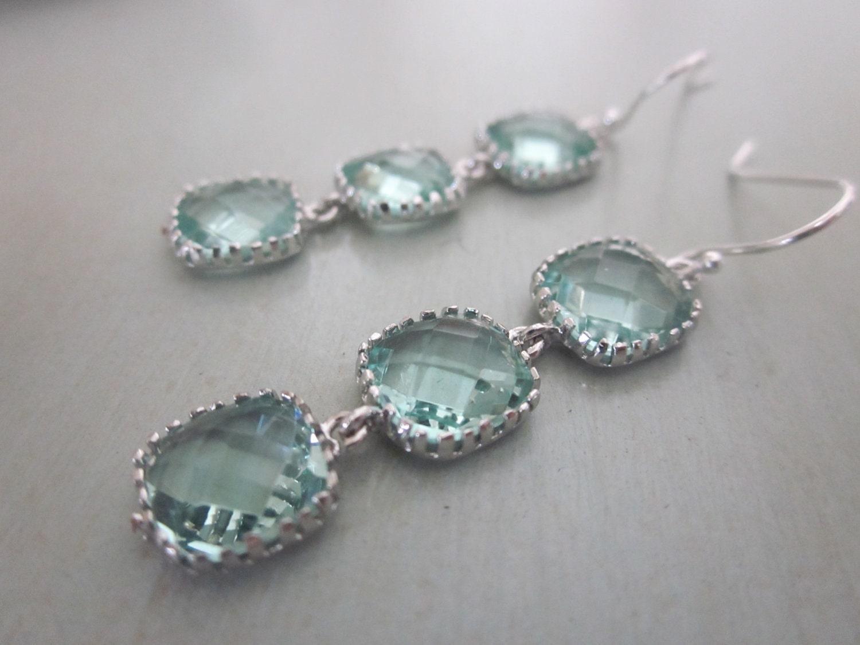 prasiolite earrings light green earrings sterling silver