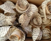 Upcycled Paper Roses x 20