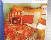 2004 Uncut  Butterick Pattern B4249  Bedroom Package-Bedspread, Sham, Pillow Case, Bedskirts   Size Twin, Full, Queen, King