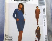1991 Uncut Sew News McCall's Pattern 5646 Misses One or Two-Piece Dress   Size 12, 14, 16