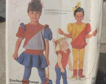 1986 Uncut McCall's  Pattern 2891 Childrens Dress, Top, bodysuit, tights. Size  5  (Missing Instructions)
