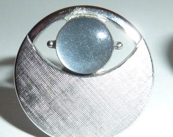 Vintage Swank Silver Eye Cuff Links