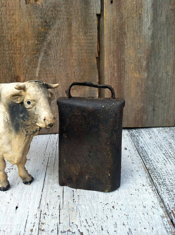 Nice Old Cow Bell with Original Clanger - Antique