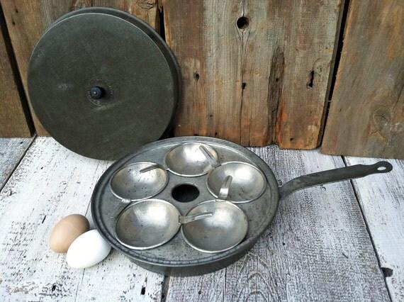 Antique Tin Buffalo Steam Egg Poacher - 1920's - Unique