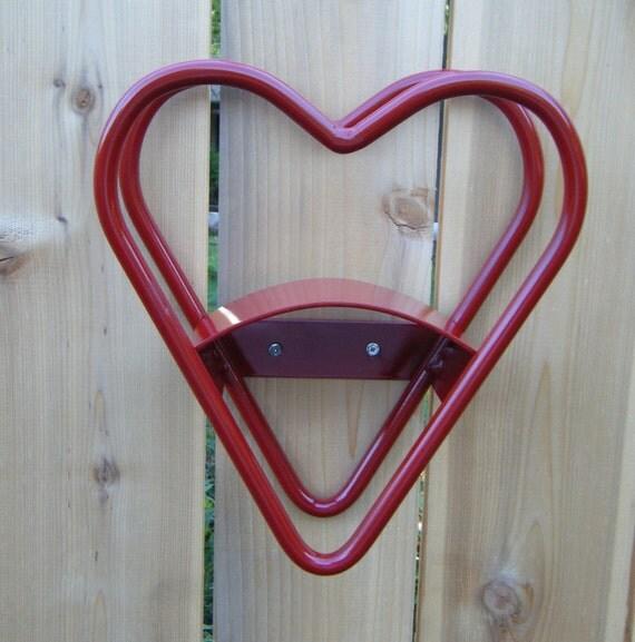 1 - Red Heart Garden Hose Reel Holder