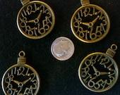Antique Bronze Clock Pendants