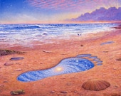 Moment in Time ecoprint from the original oil painting by Mark Henson