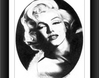 Marilyn Monroe 8 x 10 signed and numbered print - Original Graphite Portrait