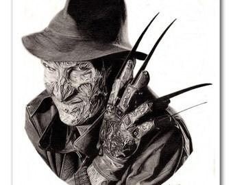 Freddy Krueger Mouse Pad - Original Graphite Portrait
