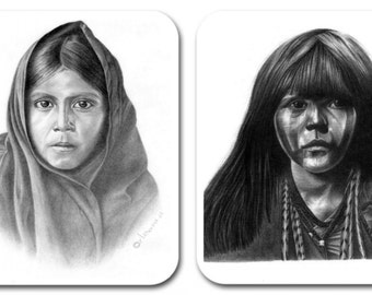 Two Mouse Pads - Girls of the American Southwest