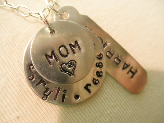 Family Name & Mom Necklace