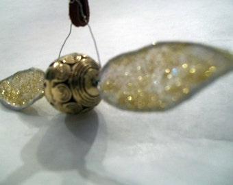 Golden Snitch Bookmark With Gold Wings