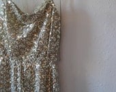 Vintage Holiday Gold Cocktail Dress by Norman Berg